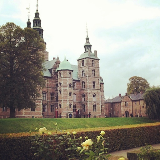 Rosenborg Slot on a cold, grey day is no less pretty