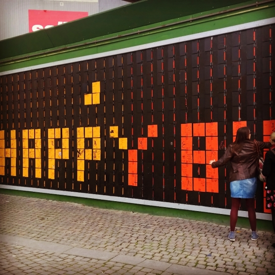 #happywall Copenhagen wins in interactive street art